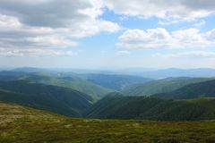 Mountain View Carpathians Fotografia de Stock