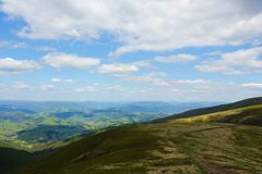 Mountain View Carpathians Imagem de Stock Royalty Free