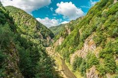 Mountain View carpathien sur la route de Transfagarasan en Roumanie images libres de droits