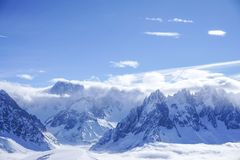 Mountain View a Chamonix-Mont-Blanc fotografia stock