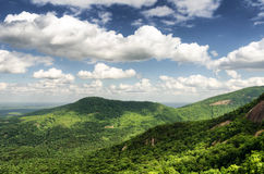 Mountain view from the Chimney rock Royalty Free Stock Image