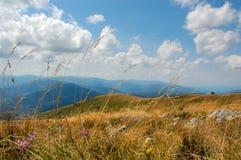 Mountain View, ciel bleu Photos libres de droits