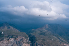 Mountain view on a cloudy day Royalty Free Stock Images