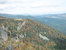 Mountain View colo de la garganta Imagens de Stock Royalty Free