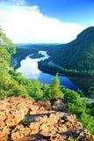 Mountain View con la roca Imagenes de archivo