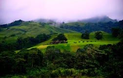 Mountain View con las nubes Imagen de archivo