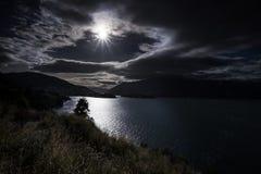 Mountain View, corrientes y lagos de Nueva Zelanda imágenes de archivo libres de regalías