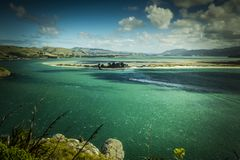 Mountain View, corrientes y lagos de Nueva Zelanda d Y imágenes de archivo libres de regalías