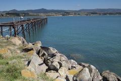 Mountain View, corrientes y lagos de Nueva Zelanda d Y fotos de archivo