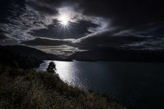 Mountain View, courants et lacs du Nouvelle-Zélande Images libres de droits