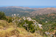 Mountain view. Crete, Greece Stock Images