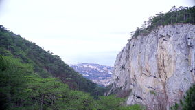 Mountain view in Crimea stock video