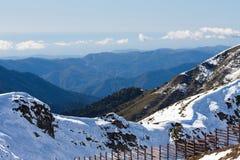 Mountain View, Czarny morze w odległości Fotografia Royalty Free