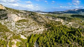 Mountain View d'air photo libre de droits