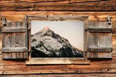 Alpi d'ardore Fotografia Stock Libera da Diritti
