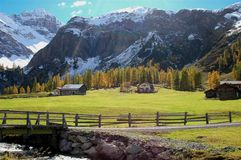 Mountain View d'automne Photo stock