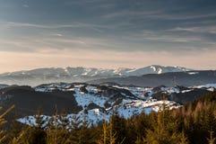 Mountain View d'hiver Images libres de droits