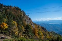 Mountain View d'un endroit plus élevé en automne photo libre de droits