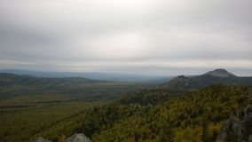 Mountain View d'Ural Photographie stock