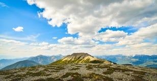 Mountain View da cimeira Imagens de Stock
