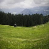 Mountain View da un highpoint in Lofer, Austria Fotografie Stock Libere da Diritti