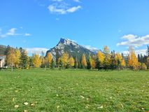 Mountain View dal parco immagine stock libera da diritti