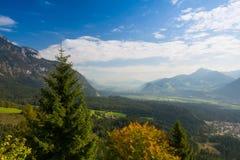 Mountain View dalla valle superiora di Alpbach, Austria Fotografia Stock