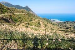 Mountain View dans le jinguashi, Taïpeh, Taïwan photographie stock libre de droits