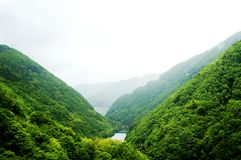 Mountain View dans Takayama photographie stock libre de droits