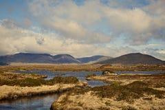Mountain View de Connemara no verão Foto de Stock