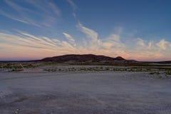 Mountain View de coucher du soleil de lever de soleil au-dessus de désert Atacama Boli d'Altiplano Photographie stock libre de droits