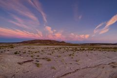 Mountain View de coucher du soleil de lever de soleil au-dessus de désert Atacama Boli d'Altiplano Photos libres de droits
