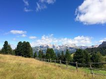 Mountain View de dolomites Photos stock