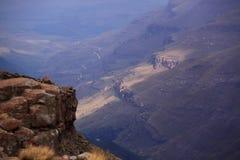 Mountain View de Drakensberg Suráfrica Fotos de archivo libres de regalías