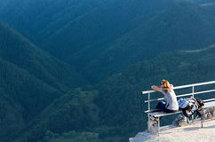 Mountain View de goce turístico Foto de archivo