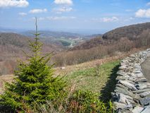 Mountain View de Grayson Highlands State Park fotografia de stock royalty free