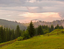 Mountain View de la mañana del otoño Foto de archivo