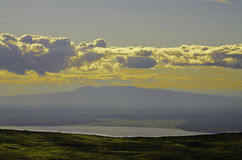 Mountain View de la señora el dormir Foto de archivo libre de regalías
