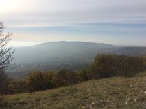 Mountain View de Mecsek Hongrie Image stock
