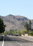 Mountain View de niveau de rue Photo stock