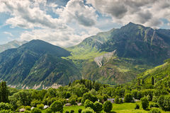 Mountain View de Pyrénées de Taull Photos libres de droits