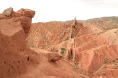 Mountain View de Quirguizistão fotografia de stock