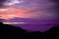 Mountain View de Sandakphu, Bengala Occidental, la India imágenes de archivo libres de regalías