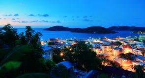 Mountain View de St Thomas en madrugada Imágenes de archivo libres de regalías