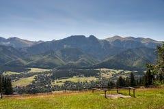 Mountain View de Tatra en Polonia imagen de archivo