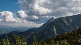 Mountain View de Tatry e Czerwone Trekking Wierchy Imagem de Stock Royalty Free