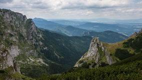 Mountain View de Tatry e Czerwone Trekking Wierchy Fotografia de Stock