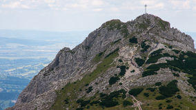 Mountain View de Tatry et trekking Czerwone Wierchy Image stock