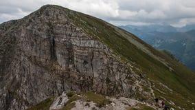 Mountain View de Tatry y Czerwone Wierchy el emigrar Imágenes de archivo libres de regalías
