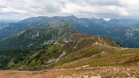 Mountain View de Tatry y Czerwone Wierchy el emigrar Fotografía de archivo libre de regalías